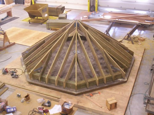 Gazebo being fabricated at Reliable Truss