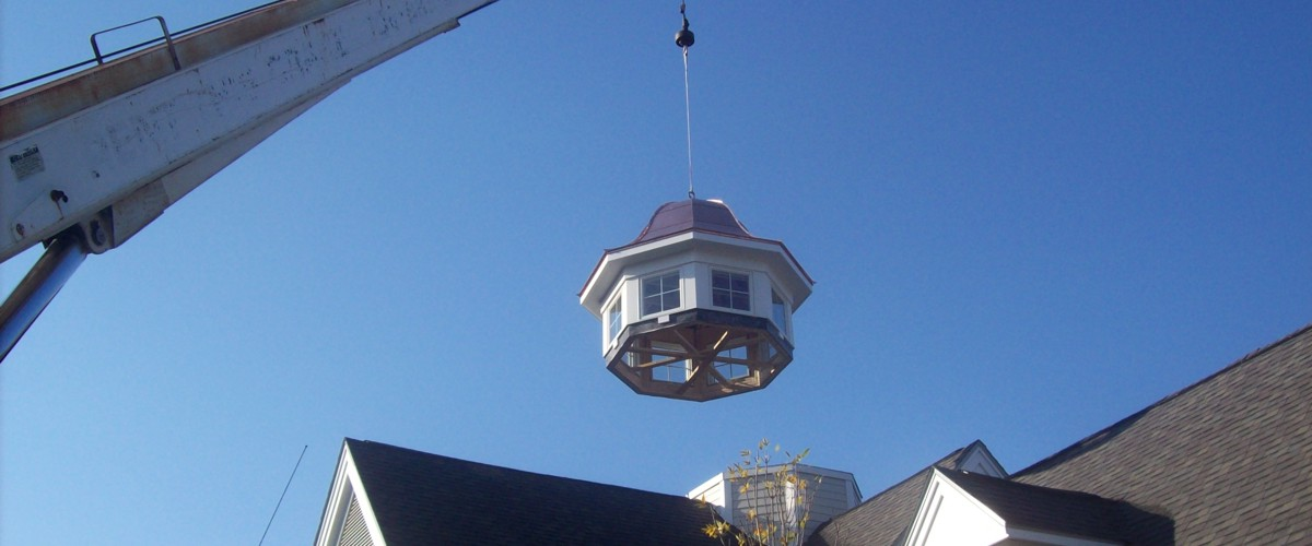 Close-up of custom cupola