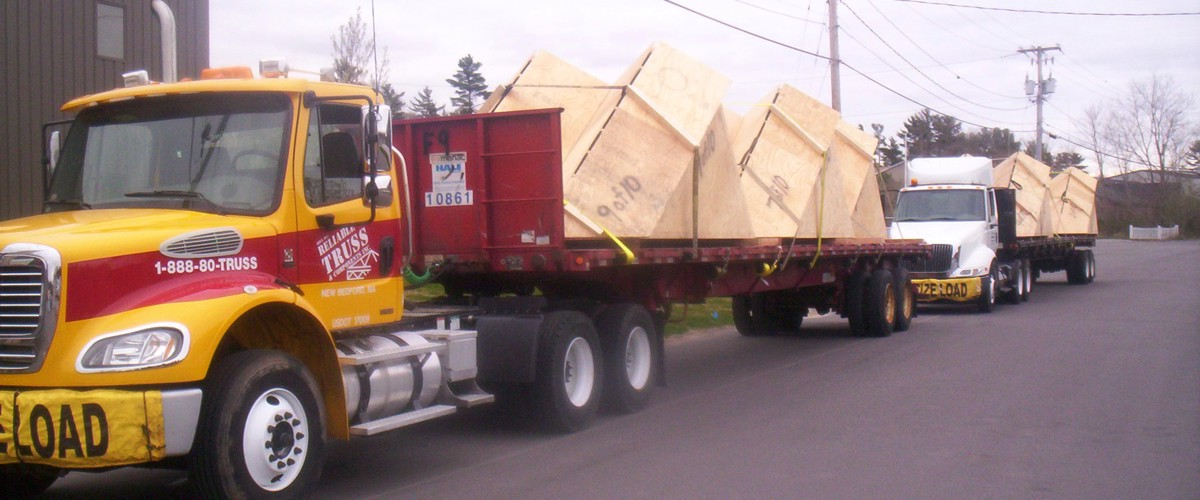 Flatbed Truck Delivering Dormer