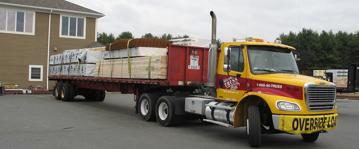Flatbed Truck Loaded for Delivery