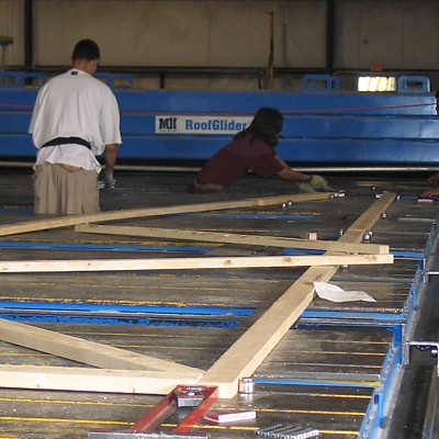 Wood Roof Trusses Manufacturing
