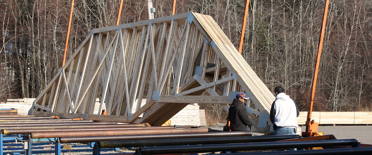 Preparing Roof Trusses for Transport