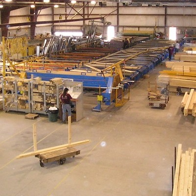 Wood Roof Trusses Manufacturing Area