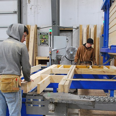 Reliable Truss Wall Panel Manufacturing Workmen in Shop