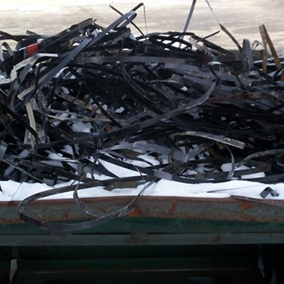 Used metal straps sent to salvager